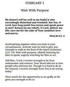 Wait with purpose - daily devotional Bible Verses Quotes, Bible Scriptures, Faith Quotes, God Loves Me, Daily Devotional, Spiritual Inspiration, Quotes About God, Trust God, Word Of God