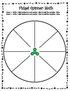 Board Game Template Printable Section Blank Spinner Wheel