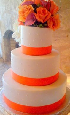 Orange Wedding Cake ... For a Wedding Cake Guide ... https://itunes.apple.com/us/app/the-gold-wedding-planner/id498112599?ls=1=8  ... The Gold Wedding Planner iPhone App.