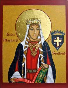 Saint Margaret of Scotland Icon Print 8x10 by vivianimbruglia