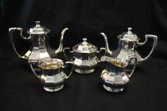 6 Piece Reed & Barton Silverplate Coffee Tea Service Set, #3940, Excellent in Antiques, Silver, Silverplate, Tea/Coffee Pots & Sets | eBay