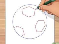 How to Draw a Soccer Ball. Soccer balls are fun to play with but can be unfamiliar to draw. The traditional soccer ball is made from two flat shapes, pentagons and hexagons. A pentagon, of course, is a five-sided polygon, while a hexagon. Ball Drawing, Paper Drawing, Line Drawing, Drawing Utensils, Flat Shapes, Soccer Ball, Party Planning, Drawings, Cards