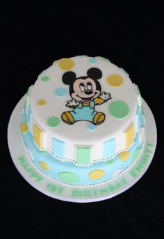 Baby Mickey Mouse Cake! www.shookupcakes.com