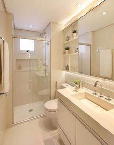 Apartment Bathroom Layout 50 Ideas For 2019 Bathroom Design Small, Bathroom Layout, Bathroom Interior Design, Bathroom Ideas, Bathroom Inspo, Bathroom Organization, Bath Ideas, Bathroom Renovations, White Vanity Bathroom
