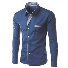 Item Type: Shirts Gender: Men Pattern Type: Solid Sleeve Style: Regular Style: Slim Fit Closure Type: Single Breasted Brand Name: TUNEVUSE Fabric Type: Broadcloth Material: Cotton,Polyester Collar: Tu