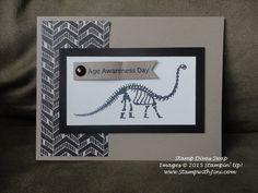 Stamp Divas July Swaps 2015 No Bones about It and Go Wild Designer Series Paper Stack Kids Stamps, Image Stamp, Kids Cards, Divas, Cardmaking, Stampin Up, Bones, Birthday Cards, Scrap