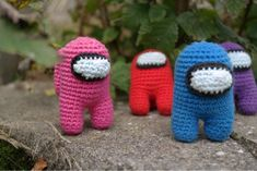 Crochet – Among us - Gribba - ᚷᚱᛁᛒᛒᚨ - Free pattern on my website - Gratis opskrift på min hjemmeside Yarn Projects, Knitting Projects, Crochet Projects, Crochet Animals, Crochet Toys, Knit Crochet, Christmas Gifts For Friends, Love Crochet, Cross Stitch Designs