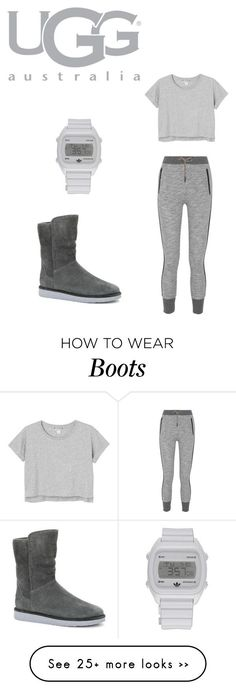 """""""Boot Remix with UGG : Contest Entry"""" by auntiegirl02 on Polyvore featuring UGG Australia, rag & bone, Monki and adidas"""