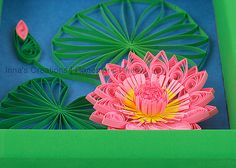 Water lily closeup. Quilling   Flickr - Photo Sharing!