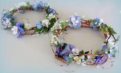 Blue hydrangea head circlet image Circlet, Blue Hydrangea, Artificial Flowers, Silk Flowers, Shades Of Blue, Wedding Flowers, Image, Fake Flowers, Faux Flowers