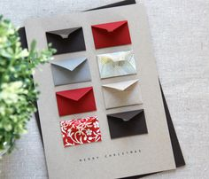 tiny envelopes card - cute gift card (possible DIY)