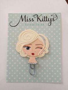 Marilyn Paper clip   Planner paper clip by MissKittysKreation