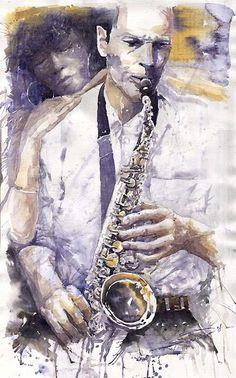 Yuriy Shevchuk. Jazz 034 by shevchukart.deviantart.com on @DeviantArt