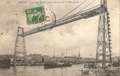Le pont transbordeur de Rouen en 1907. http://www.geneanet.org/search/collection