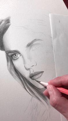 Work in progress. Drawing a portrait of Natalia Vodianova - - Work in progress. Drawing a portrait of Natalia Vodianova Zeichnen Ein Beginn des Zeichnens Pencil Art Drawings, Realistic Drawings, Art Drawings Sketches, Drawing Art, Drawing Drawing, Portrait Sketches, Pencil Portrait, Portrait Art, Drawing Portraits