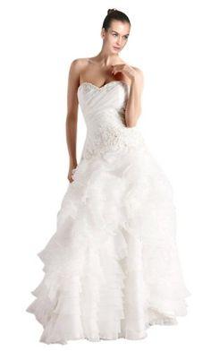 *Maillsa A-line Elegant Organza Wedding Dresses White US 2 Maillsa http://www.amazon.com/dp/B00HVDC03Y/ref=cm_sw_r_pi_dp_QeD.tb116JHB5