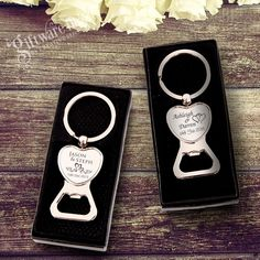 You cant go past our engraved heart bottle openers. Your guests will surely love these little beauties. High gloss chrome finish with personalised laser engraving. Check them out now from only $2.79 each. #GiftwareDirect #favours #bomboniere #weddinggifts