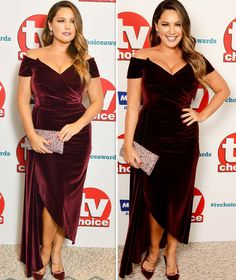 TV Choice Awards Kelly Brook squeezes eye-popping bust into tight velvet frock Kelly Brook Style, Star Fashion, Womens Fashion, Burgundy Dress, Dress Images, Victoria Dress, Blonde Beauty, Red Carpet Dresses, Tight Dresses
