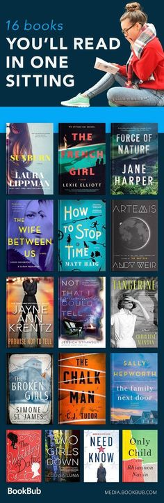 """16 Unputdownable Books We'd Call in """"Sick"""" For A reading list of books so good, you'll read them in one sitting! Including popular and bestselling fiction books. Book Club Books, Good Books, Books To Read, My Books, Teen Books, Book Suggestions, Book Recommendations, Reading Quotes, Book Quotes"""