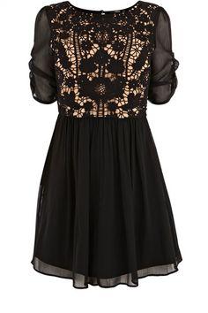 A tasteful black dress