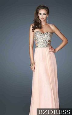 Long Prom Dress Long Prom Dresses<< pretty, but idk if I'd be able to wear it to my schools prom