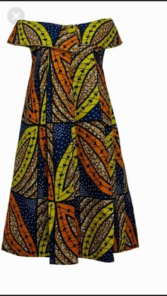 African off-shoulder dress