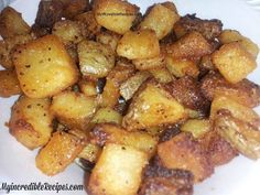 Crispy Parmesan potatoes - I added cheddar jack cheese and scallions yum