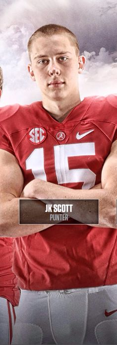 JK Scott, Alabama All-American Punter. Pictured from the 2015 Alabama Football…