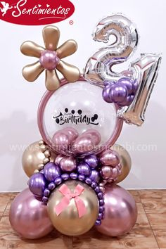 Balloon Arrangements, Balloon Centerpieces, Balloon Decorations, Birthday Party Decorations, Balloon Bouquet, Balloon Garland, Balloons, Birthday Presents, Birthday Parties