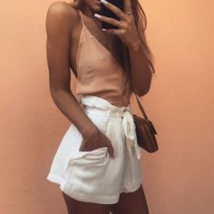 Sana Shorts + Ila Backless Cami   #saboskirt  Our fave girl in our fave basics @staceytonkes