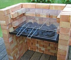 Brick bbq grill in stainless steel how to build a brick barbecue built in barbeque grills brick bbq pit iaabigail co Cool Diy Backyard Brick Parrilla Exterior, Brick Grill, Patio Grill, Gazebos, Outdoor Oven, Outdoor Barbeque, Barbecue Ideas Backyard, Barbecue Grill, Outdoor Living