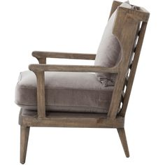 Ichabod Rustic Lodge Grey Brown Wood Plush Arm Chair ($1,116) ❤ liked on Polyvore featuring home, furniture, chairs, accent chairs, wooden accent chairs, wooden armchair, wood chair, wooden chairs and wood arm chair