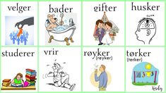 Norsk verbs Norwegian Words, Norway Language, Norway Travel, Chinese English, Scandinavian, Learning, Languages, Funny, Culture