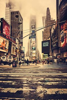 Hey New York, New Jersey....Toronto wants you back up & running. Pictured here are foggy Times Square in Manhattan.