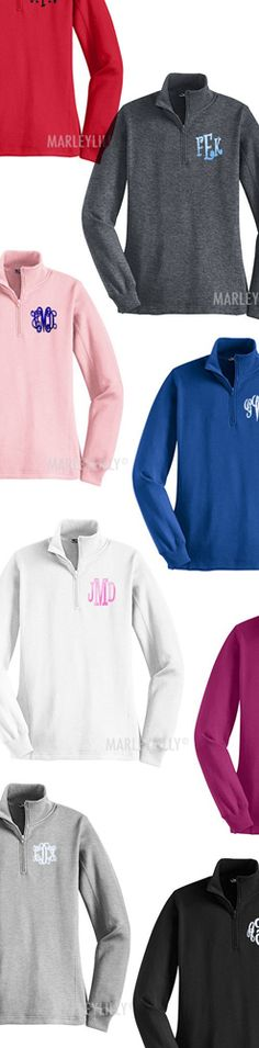Monogrammed Pullover Sweatshirt from Marleylilly.com! Would love this with leggins and boots! #fall #falloutfit