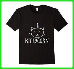 Men's Cat Unicorn Kittycorn Funny T-shirt Animal Lover Gift 2XL Black - Fantasy sci fi shirts (*Amazon Partner-Link)