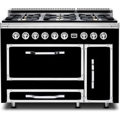 Viking Tuscany Series TVDR4806BGB 48 In. Freestanding Dual Fuel Range with 6 Burners, Sealed Cooktop, Double Ovens in Graphite Black