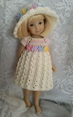 "Handknitted outfit for Dianna Effner Heartstrings doll 8"", Kidz 'N' Cats Minis 