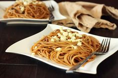 Spaghetti with Caramelized Onions & Mushrooms