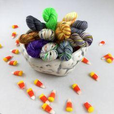 Halloween Mini Set - Hand Dyed Fingering Weight/Sock Yarn - 11 Skeins 10 Grams Each