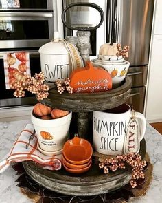 Fall Home Decor-Autumn Gifts -Tiered Tray Sign-Hello Fall Wreath Sign-Fall Decor-Farmhouse Decor-Housewarming Gift-Thanksgiving Decor Fall Kitchen Decor, Fall Home Decor, Autumn Home, Diy Home Decor, Kitchen Ideas, Autumn Fall, Winter, Fall Diy, Fall Decor For Mantel