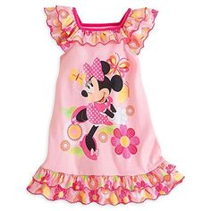 Disney Minnie Mouse Clubhouse Pink Floral Nightshirt for Girls - deal quotes Teen Girl Fashion, Little Girl Fashion, Kids Fashion, Disney Outfits, Girl Outfits, My Baby Girl, Pink Girl, Minnie Mouse Clubhouse, Kids Pjs