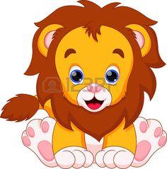 Illustration of Cute baby zebra cartoon vector art, clipart and stock vectors. Zebra Cartoon, Cartoon Lion, Baby Cartoon, Safari Animals, Cute Baby Animals, Lion Clipart, Jungle Theme Birthday, Art Impressions Stamps, Baby Zebra