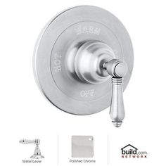 Rohl A1400LM Country Bath Shower Valve Trim (Trim Only) With Metal Lever  Handle Polished