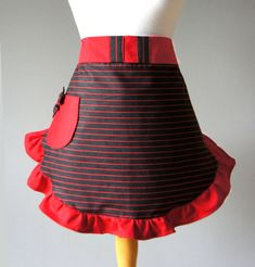 Holiday Apron  Mrs Claus Christmas Apron Red and by PolitelyPink, $32.00