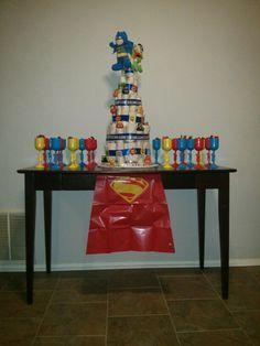 Super hero diaper cake by Rachel Saucier