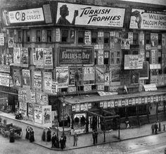 Billboards in Times Square (1900) from History Now: 10 Incredible History Pictures pt. 5