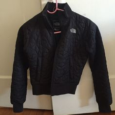 North Face quilted puffer jacket New condition! Women's extra small. Super cute but too small for me. Only worn once. The North Face Jackets & Coats Puffers