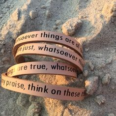 Think good thoughts bracelet