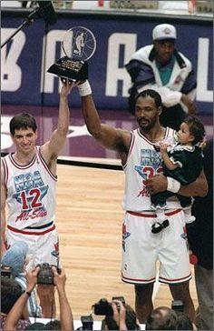 ef9236720e0 John Stockton Karl Malone Utah Jazz Most Valuable Player MVP NBA All-Star  Game